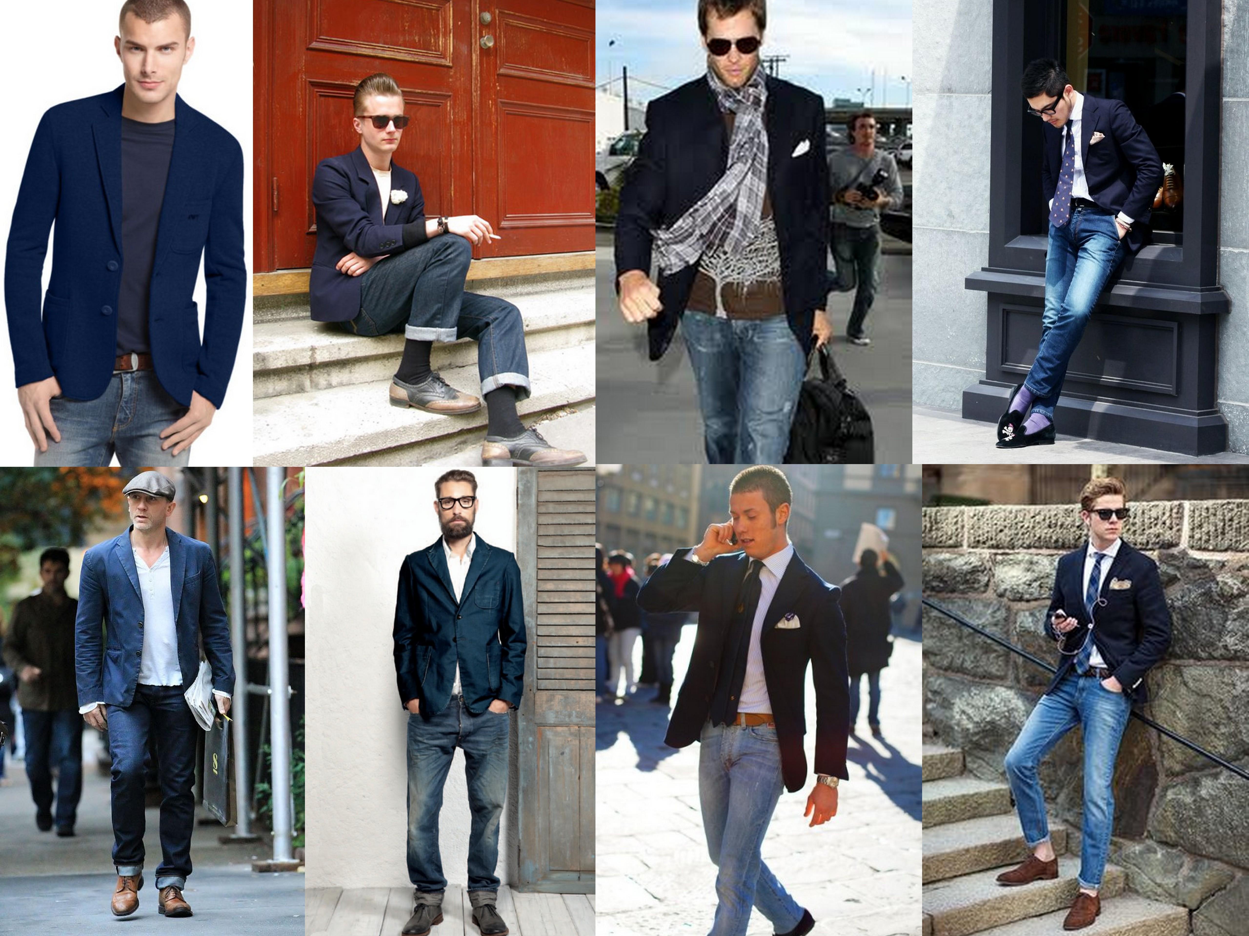Blauwe blazer heren combineren